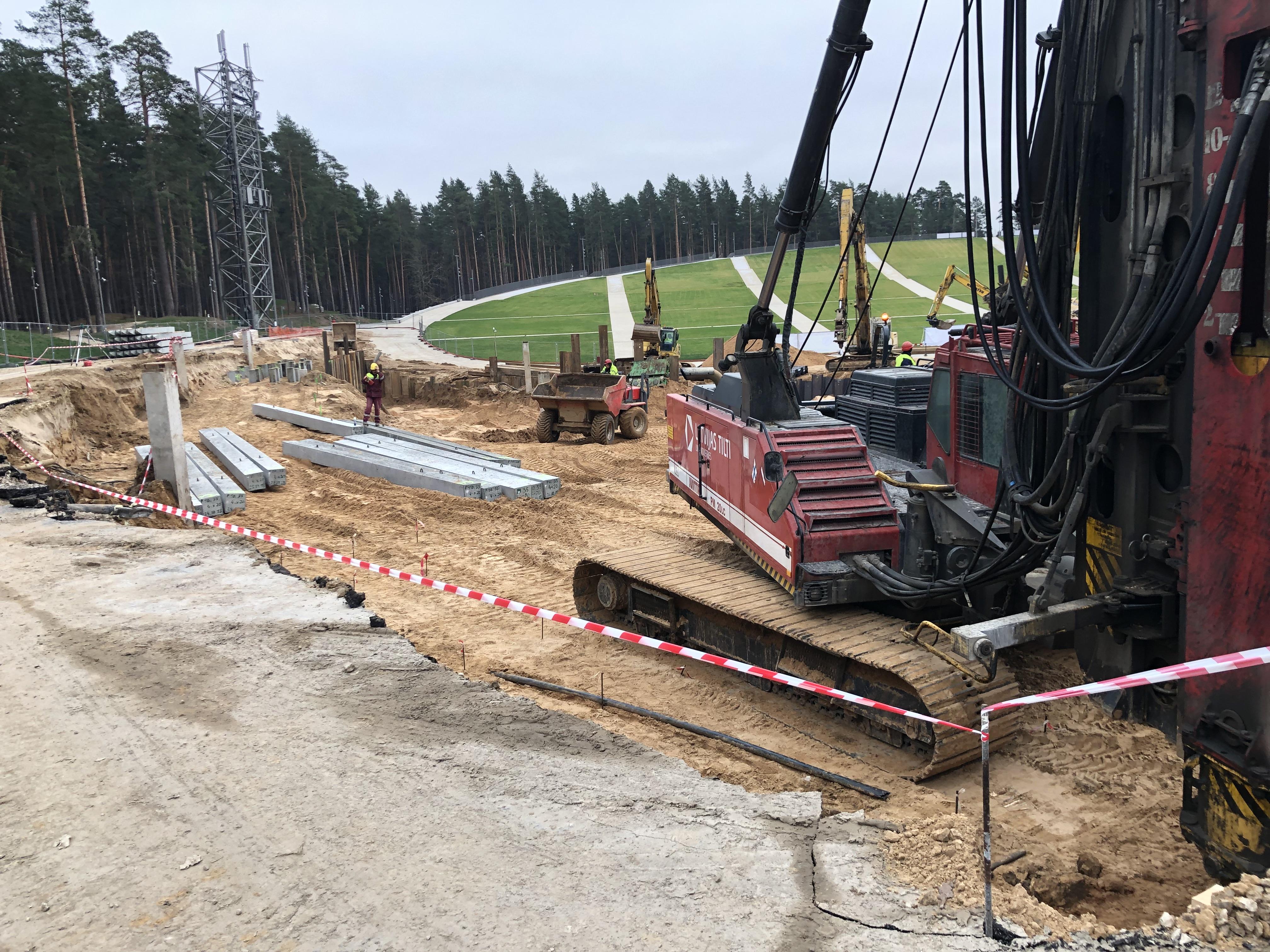 Mežaparka Lielās estrādes 2.kārtas pārbūves ģeotehniskā uzraudzība un gruntsūdens monitorings